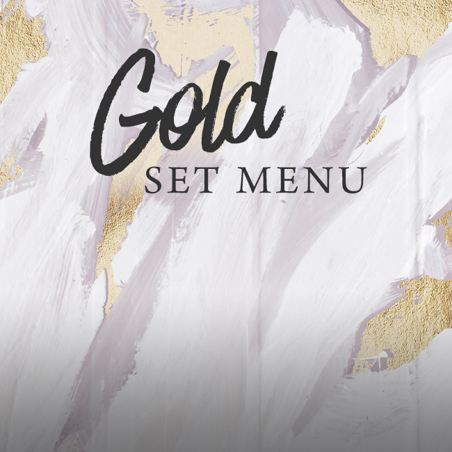 Gold set menu at The Old Cottage