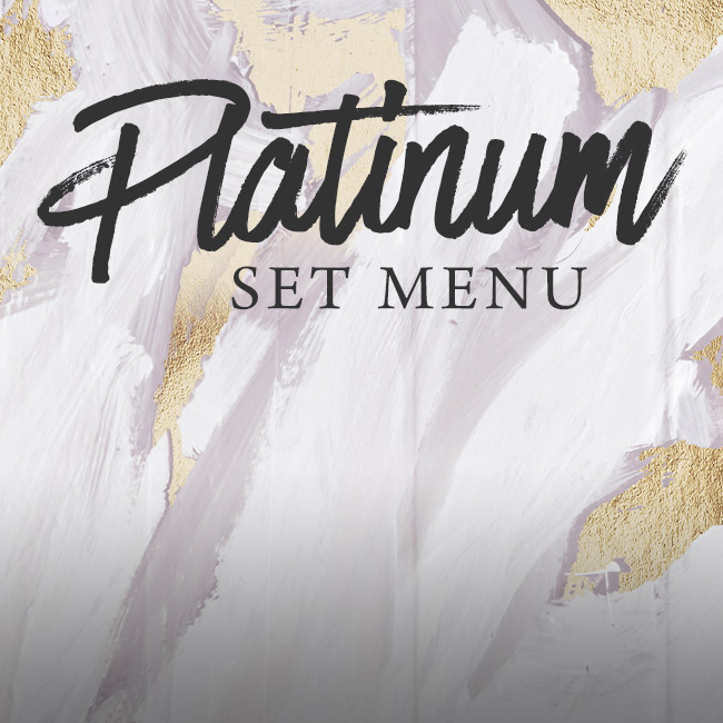 Platinum set menu at The Old Cottage