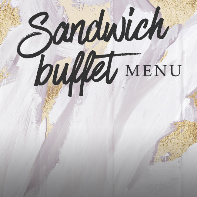 Sandwich buffet menu at The Old Cottage