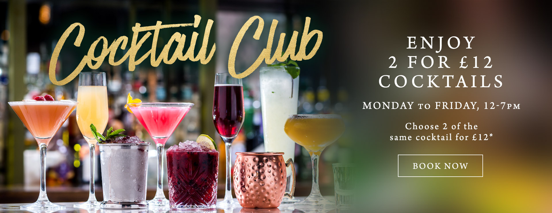2 for £12 cocktails at The Old Cottage